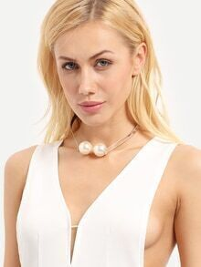 Silver Luxurious Pearl Necklace