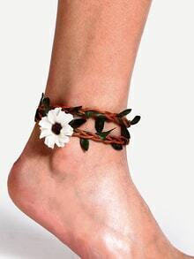 Simple Handmade Flower Beach Anklet