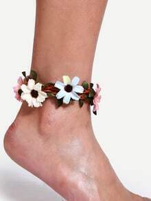 Natural Handmade Flower Boho Anklet