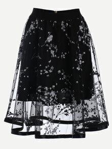 Jupe en mesh - Noir