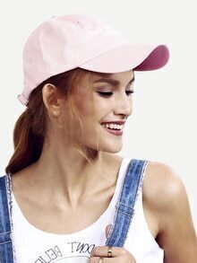 Pink Letters Decorated Baseball Hat