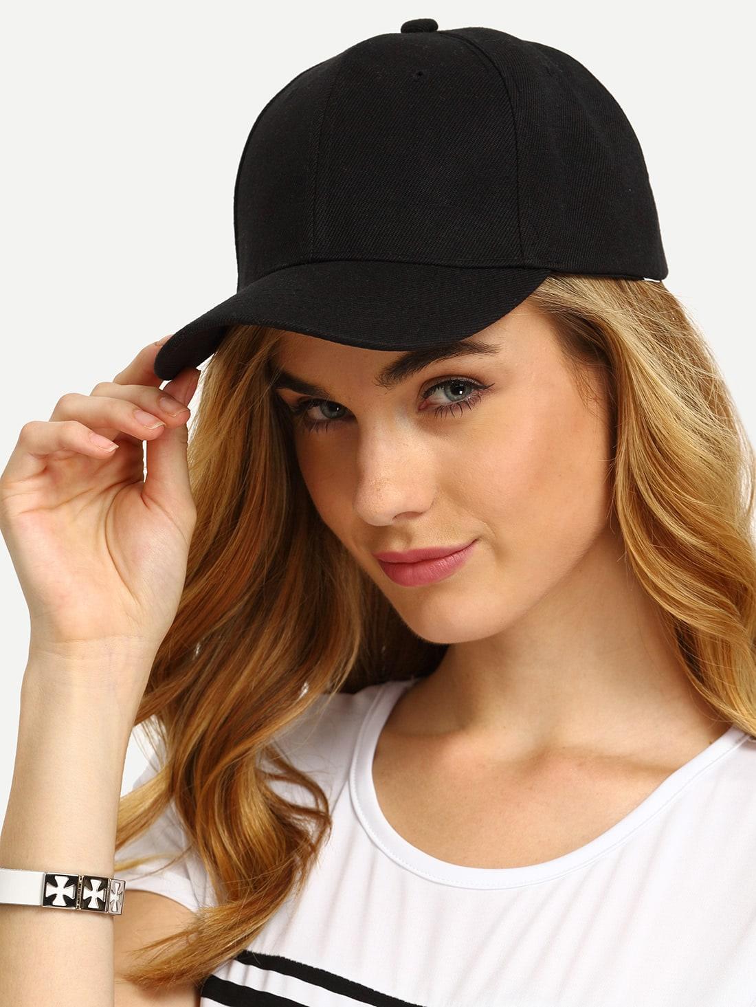 Black Simple Baseball Cap