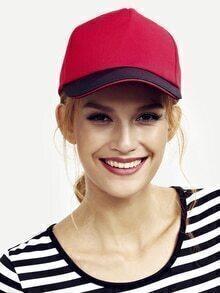 Gorra de béisbol simple -rojo