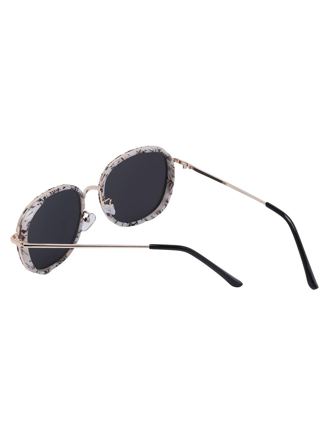 lunettes de soleil monture ronde french romwe. Black Bedroom Furniture Sets. Home Design Ideas