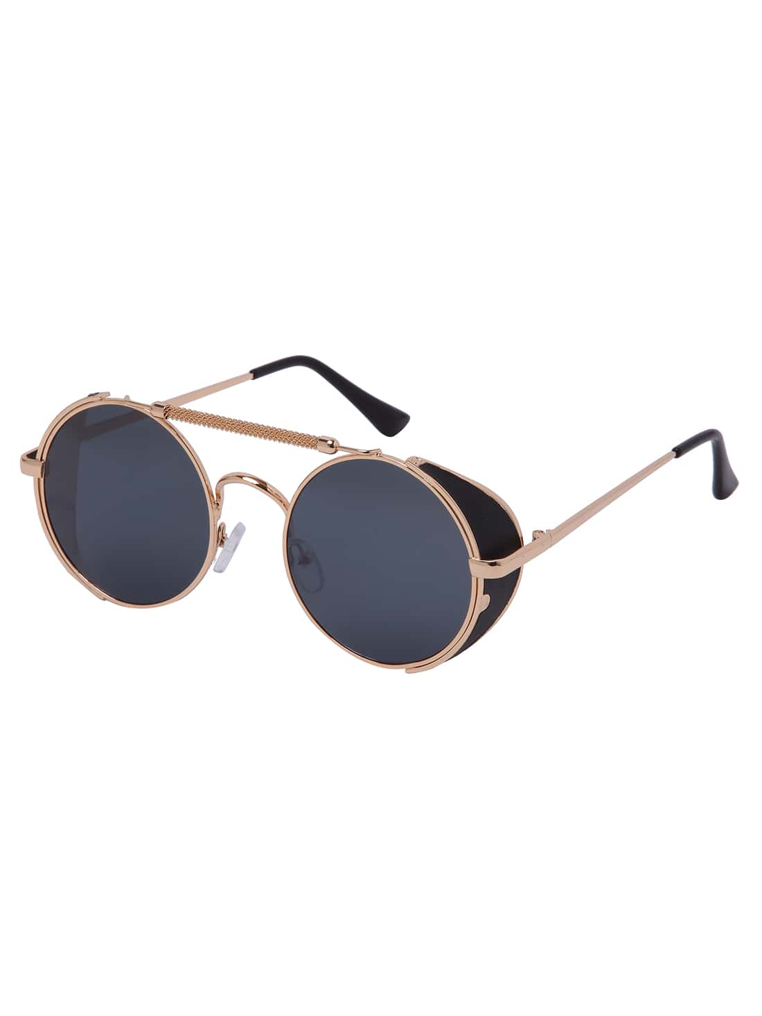 Golden Frame Retro Round Lenses Sunglasses