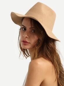 Beige Fashionable Large Brimmed Hat
