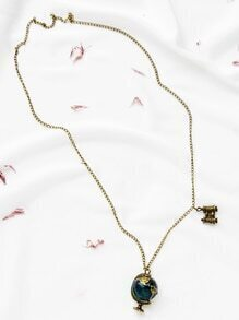 Golden Globe Pendant Necklace