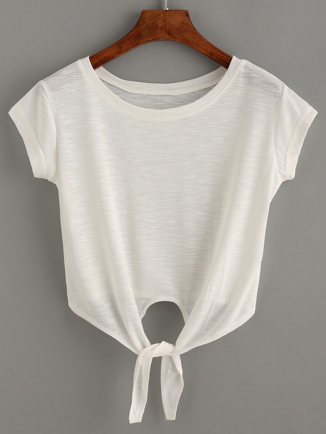 how to make a crop top from a t shirt