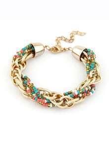 Bracelet en chaîne avec perles