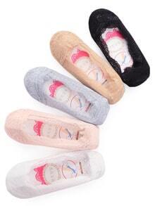 Non-slip Lace Boat Socks - Color At Random