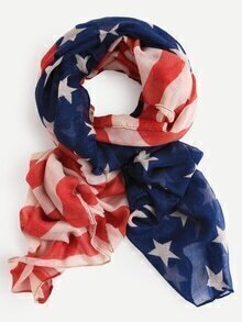 Stars and Stripes Voile Scarf