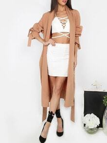 Brown Long Sleeve Outerwear