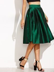 Jupe plissé avec zip - vert