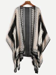 Kimono motif géométrique - Noir