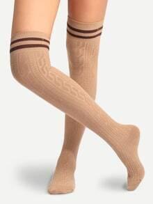 Calcetines transpirables por encima de rodilla - kaki