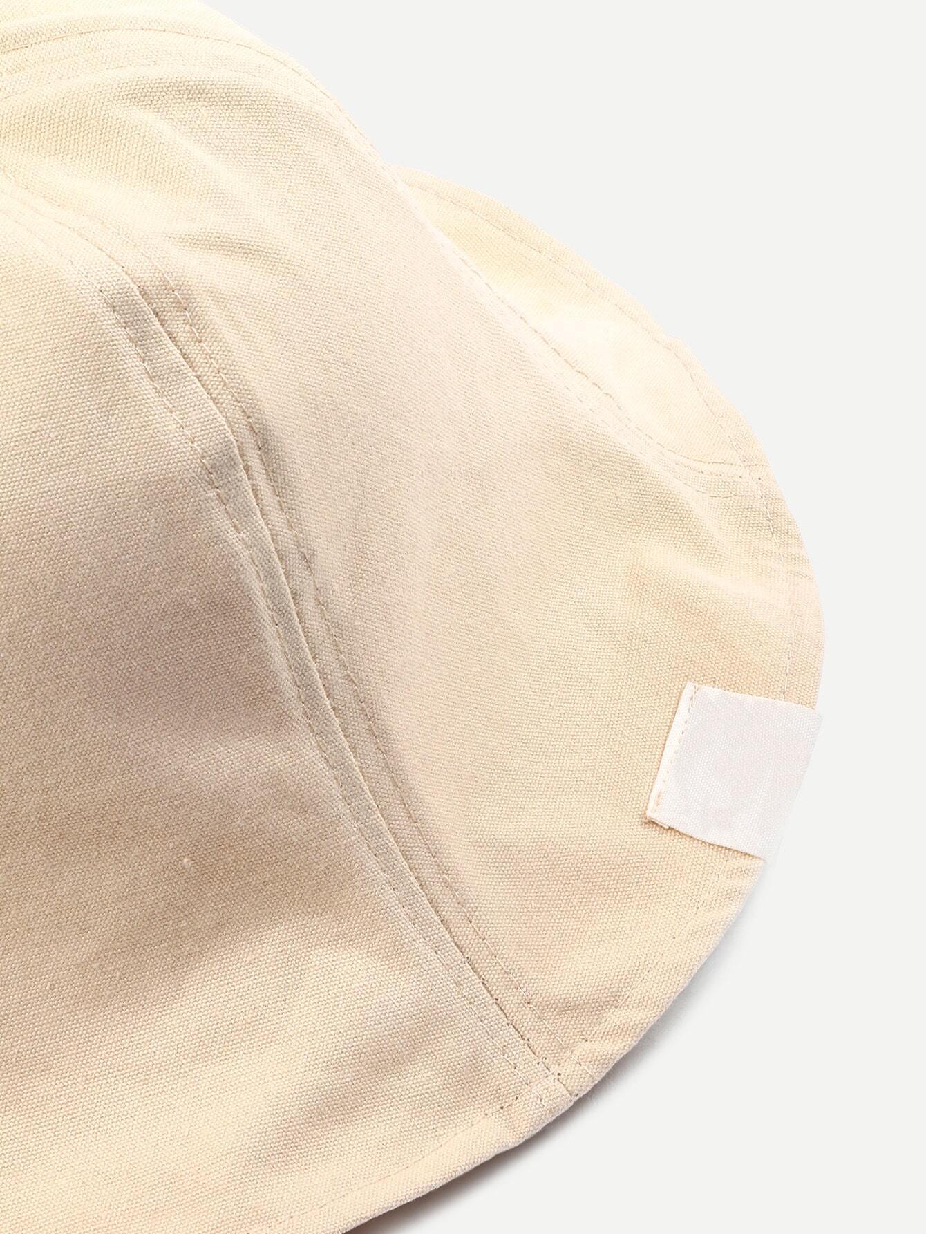 chapeau en coton pliable beige french romwe. Black Bedroom Furniture Sets. Home Design Ideas