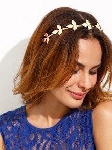 Golden Leaf Shaped Hair Band