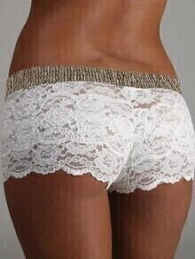 Ivory Lace Boxer Briefs