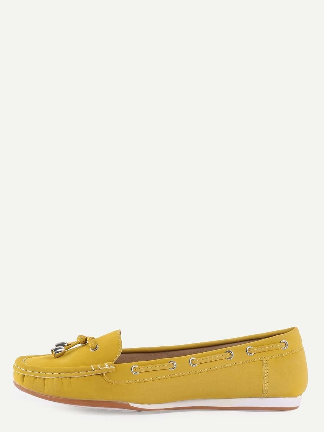 Chaussures en faux daim avec lacets jaune french romwe for Acheter maison suede