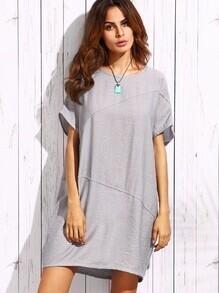 Grey Oversized Binding Dress