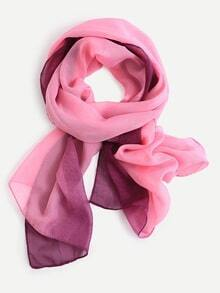 Pink Ombre Chiffon Scarf