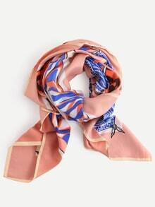 Multicolor Abstract Print Scarf