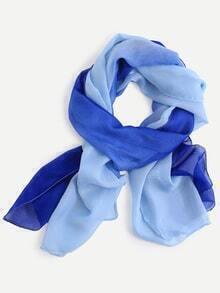 Blue Ombre Chiffon Scarf
