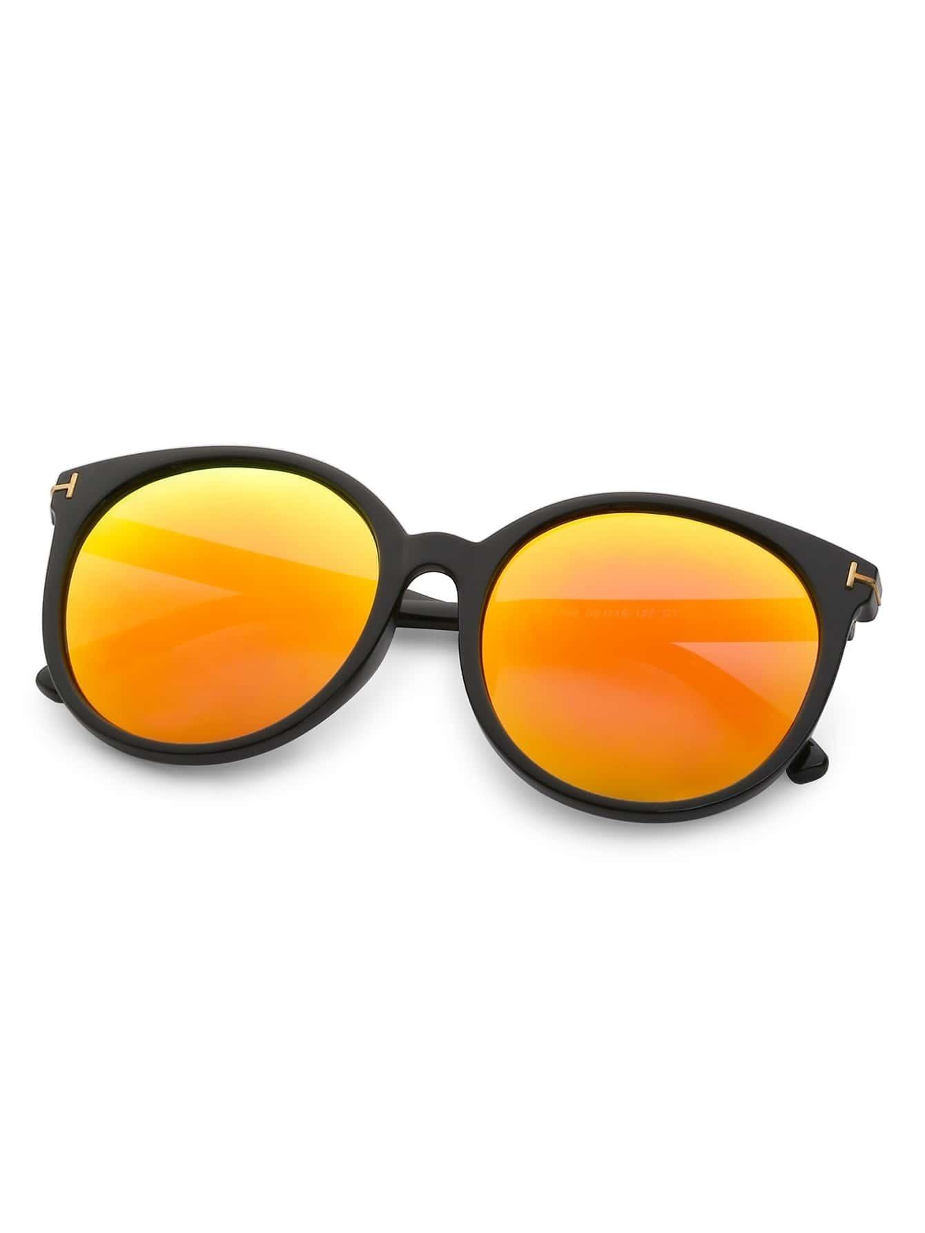 lunettes de soleil monture ronde noir french romwe. Black Bedroom Furniture Sets. Home Design Ideas