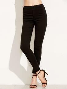 Black Elastic Waist Skinny Leggings