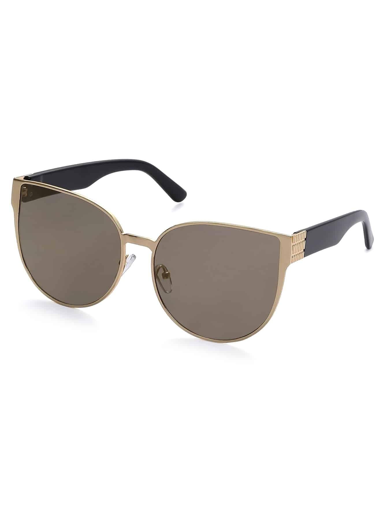 Gold Frame Cat Eye Sunglasses : Gold Metal Frame Vintage Cat Eye Sunglasses
