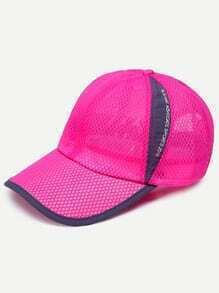 Hot Pink Mesh Baseball Cap
