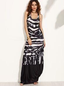 Black Tie Dye Tank Dress