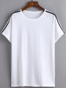 Camiseta rayas casual - blanco