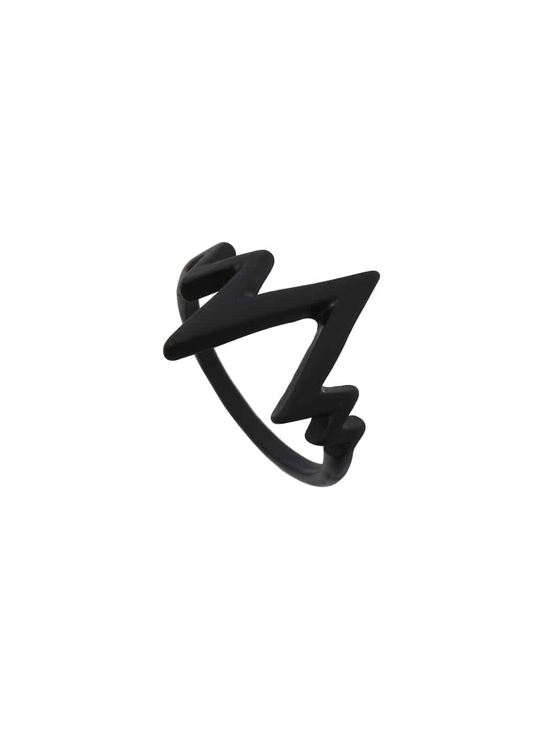 Black Electrocardiogram Shaped Ring