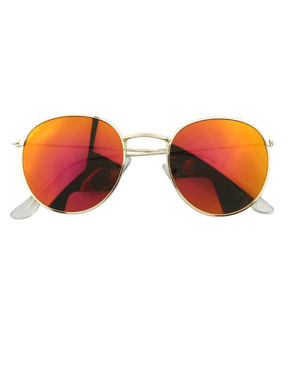 橘色  圓形的 過大的 太陽眼鏡