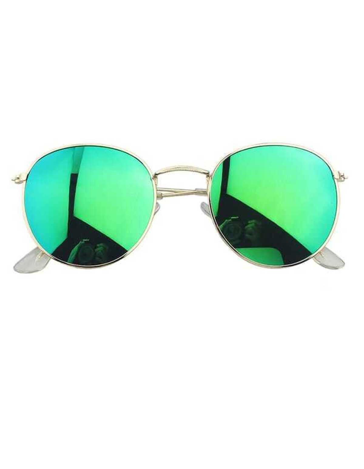 綠色 圓形的 過大的 太陽眼鏡