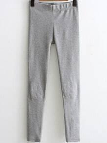 Grey Crown Embroidery Skinny Leggings