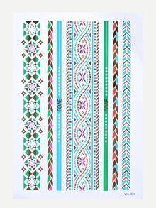 Tatuaje geométrico - multicolor