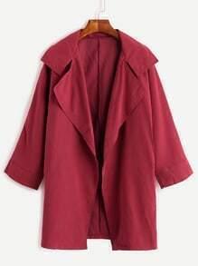 Burgundy Cocoon Duster Coat