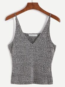 Heather Grey Spaghetti Strap Knit Vest