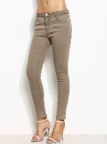Grey Skinny Ankle Jeans
