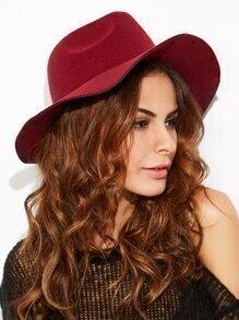 Sombrero de ala ancha vintage - borgoña