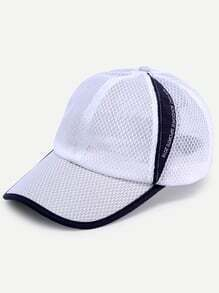 Black And White Structured Mesh Baseball Cap