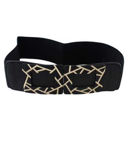 Black Elastic  Hollow Out Belts