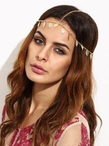 Gold Leaf Fringe Head Chain
