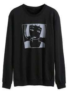 Black Girl Print Sweatshirt
