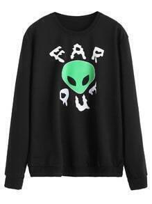 Sudadera con estampado de ET - negro