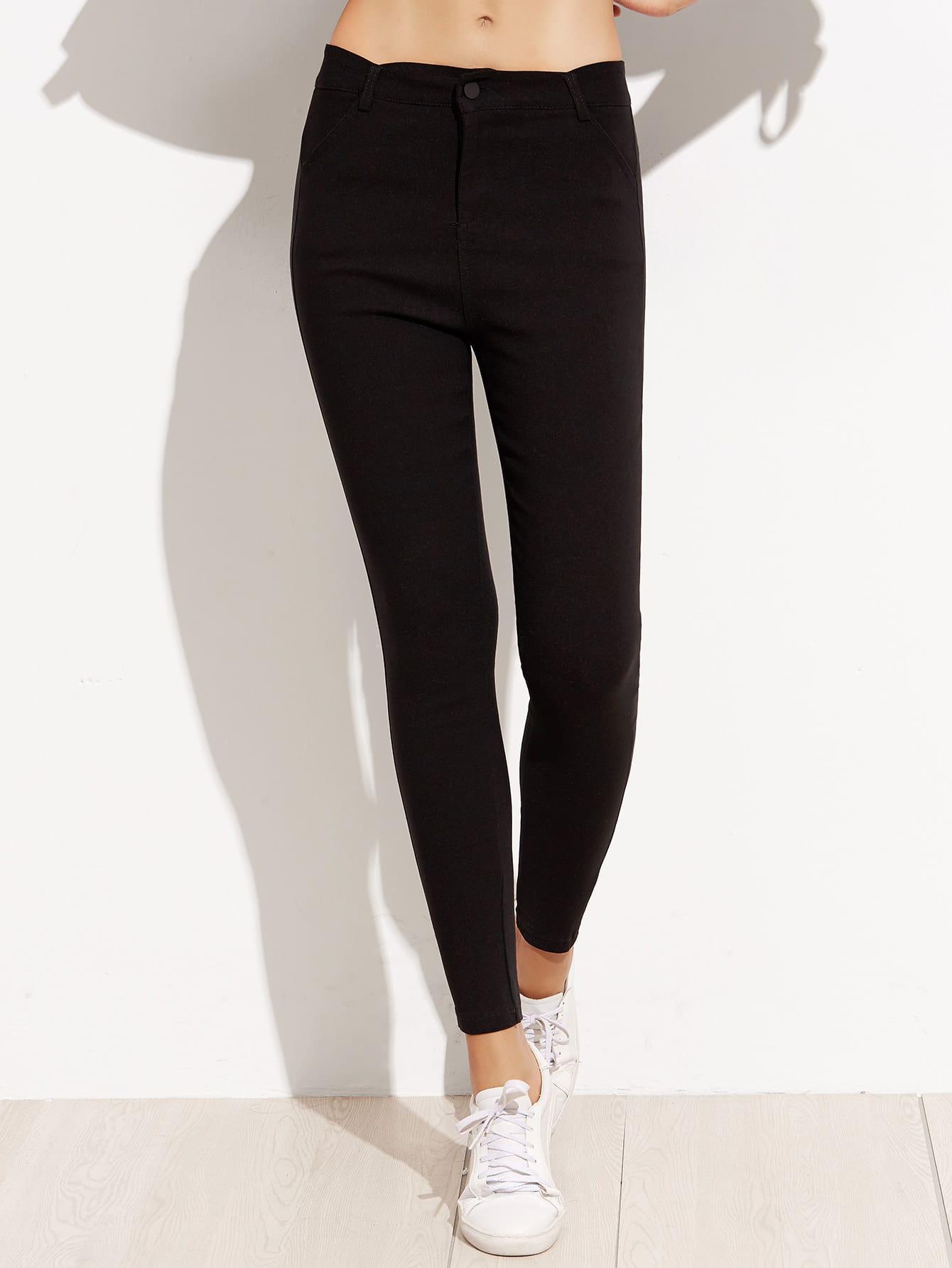 Black Skinny Ankle Pants