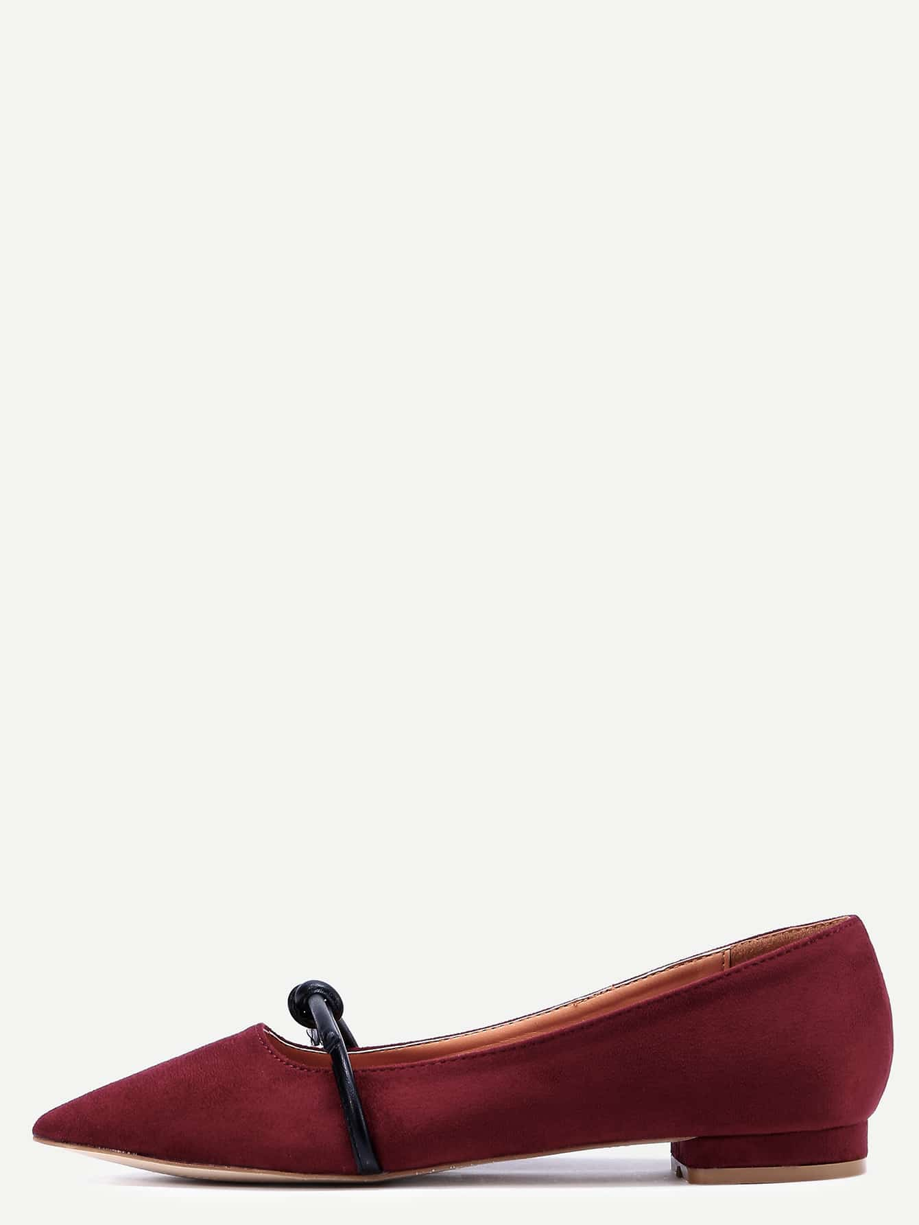 Chaussures mary jane en su dine bout pointu rouge for Acheter maison suede