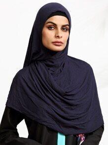 Coiffure Hijab élégant - bleu marine